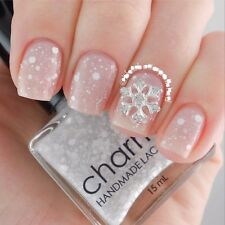10 PIECES SILVER Christmas Metal Snowflakes Rhinestone 3D Nail Art Decortion 311