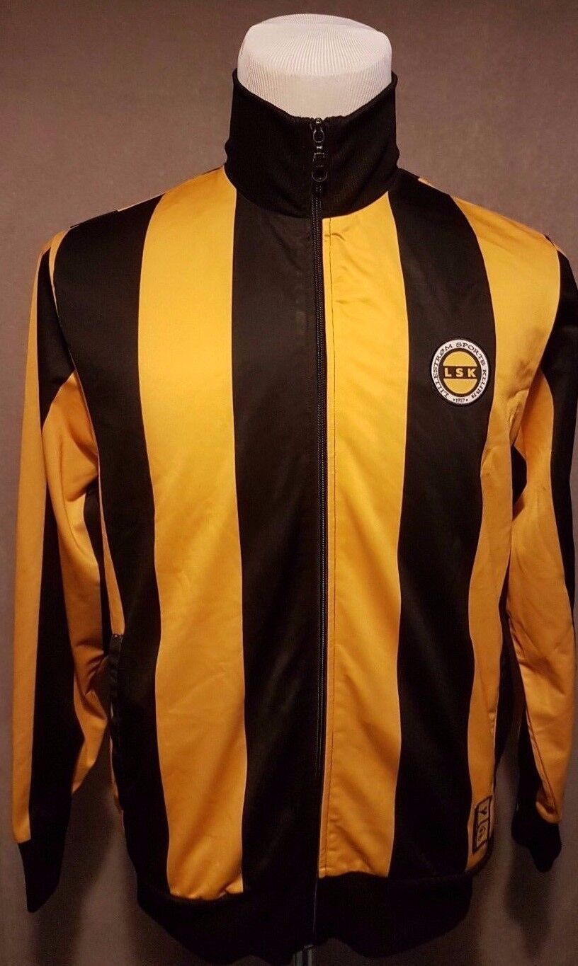 very rare LILLESTROM FC Norway Diadora Track Top Size: Large EXCELLENT Condition