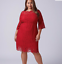 Lane-Bryant-Scallop-Edge-Lace-Fit-Flare-Dress-Plus-14-16-18-22-24-Red-1x-2x-3x thumbnail 2