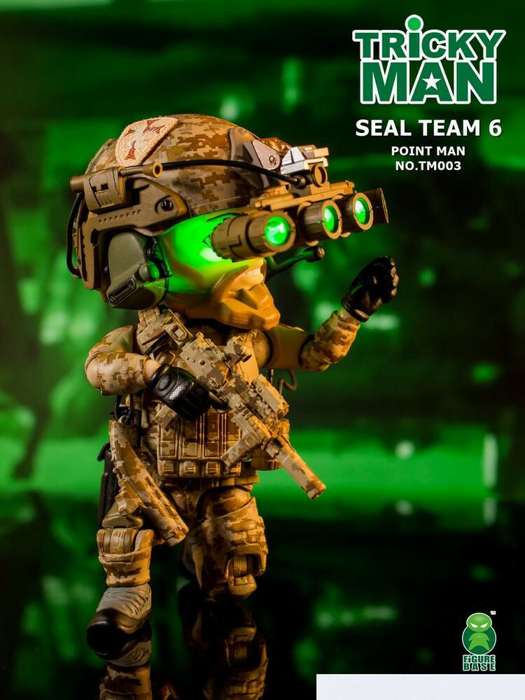 Figurabase 5  TM003 trickyman Seal Team 6 Point Man Figura Collectio