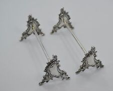 Pair of Art Nouveau Wolter Delhed Belgium 800 Silver Knife Rests $75/PAIR! WOW!