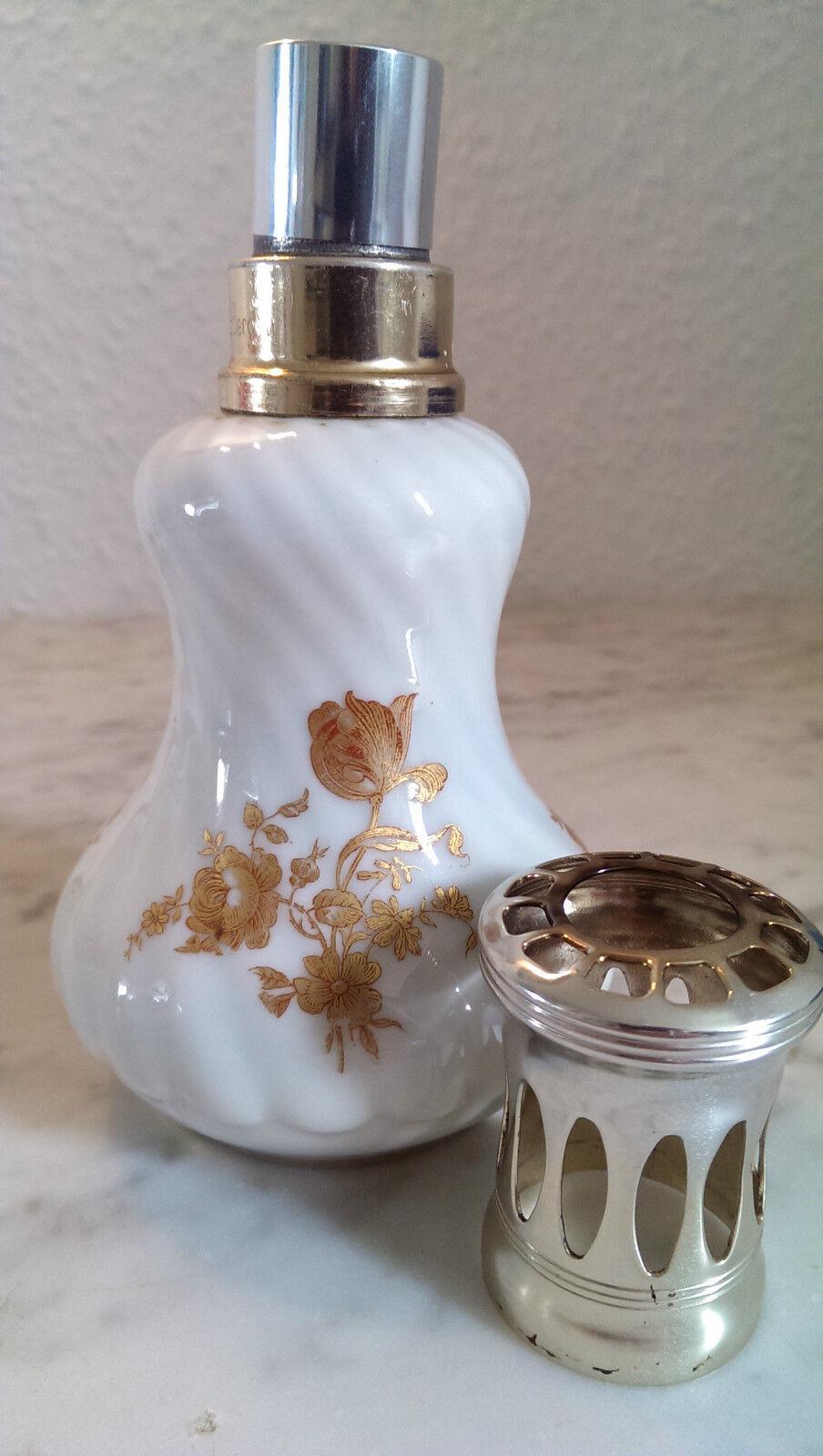 LAMPE BERGER Goldene Rosan weißes Porzellan PORCELAINE PORCELAINE PORCELAINE PILIVUYT G 2b93bb