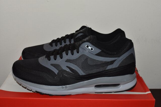 Nike Mens Air Max Lunar 1 Black Dark Grey, 654470 001, Running Shoes Sz 9.5 NDS