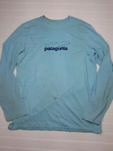 Patagonia-Men-039-s-Blue-Regular-Fit-Long-Sleeve-Shirt-Size-Unknown-Y19