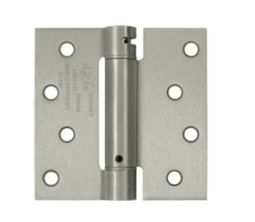 """Spring Hinge Single Action 4/""""x 4/"""" Square Corners  10 Finishes By FPL Door Locks"""