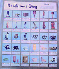 VINTAGE 60s 70s THE TELEPHONE STORY POSTER Bell Western Electric History