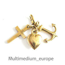 8ct Gold Anhänger Glaube Liebe Hoffnung Charm gold pendant belief, love, hope
