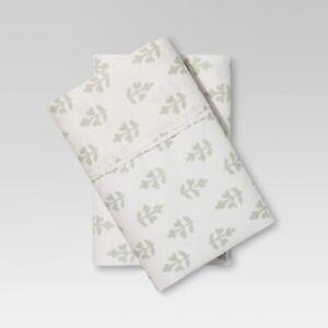 Ivory 300 Thread Count King Organic Cotton Solid Pillowcase Set Threshold