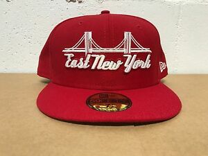 5c2d310a RED/WHITE) New Era East New York Brooklyn Bridge 59FIFTY Fitted Hat ...