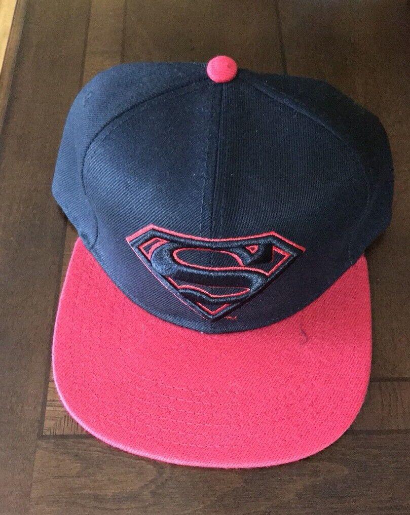 DC Comic Hat Superman Mens New Adjustable Sz New Mens f07c01