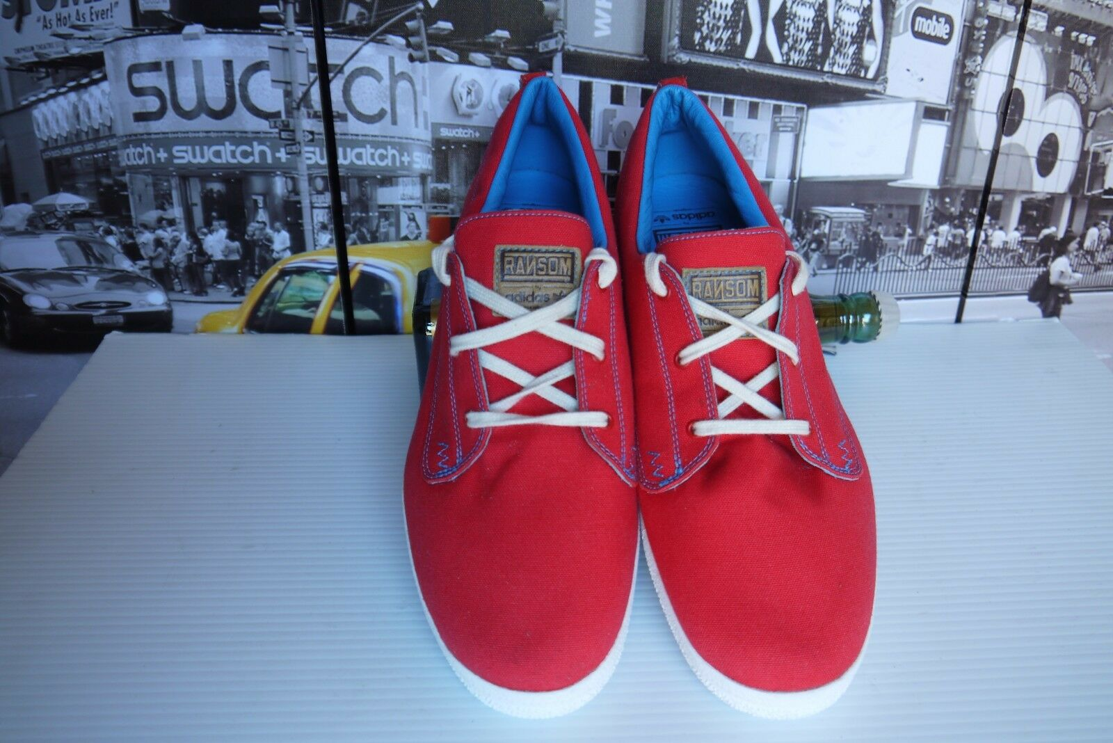 2009 Adidas Ransom g13316 Red Canvas Sneakers men's US 10   UK 9.5   EU 44