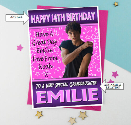 5 Relation FAB ! NOAH CENTINEO A5 Personalised Birthday Card Any Name Age