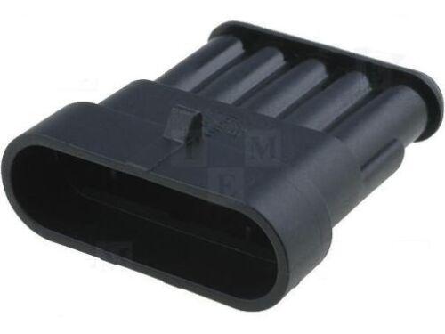 Superseal Stecker wasserdicht IP67 Stiftgehäuse 5-polig RM6,0