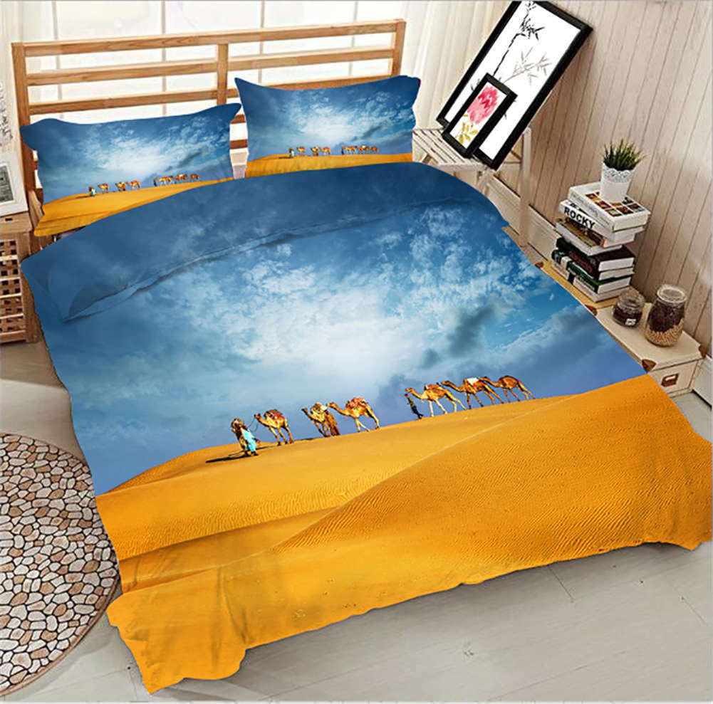Expansive Desert 3D Printing Duvet Quilt Doona Covers Pillow Case Bedding Sets