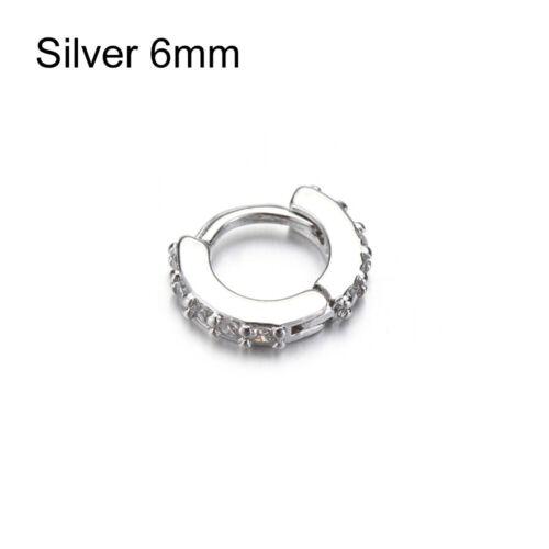 Daith Conch Snug CZ Ear Piercing  Nose Ring Body Jewelry Huggie Hoop Earring
