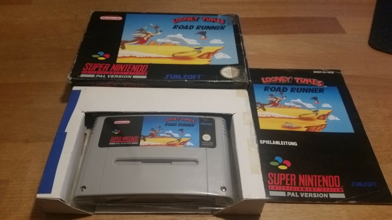 Looney Tunes Road Runner Super Nintendo SNES PAL OVP CIB Boxed