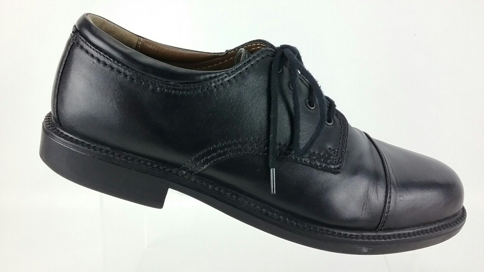 Dockers Cap Toe Oxford Black Leather Lace Up Mens 12 M Dress Casual shoes R7S7