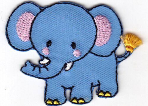 ELEPHANT- CHILDREN Iron On Embroidered Patch ANIMALS BABIES
