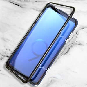 timeless design 8695b b17fa Magnetic Absorption Tempered Glass Metal Case for Samsung Galaxy S8 ...