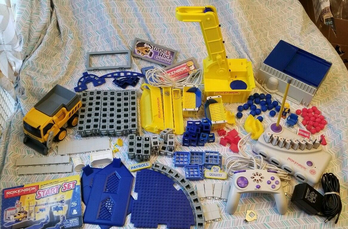 Rokenbok Systems Rok Rok Rok Works Start Set with Command Center 159 pieces works great  89d480