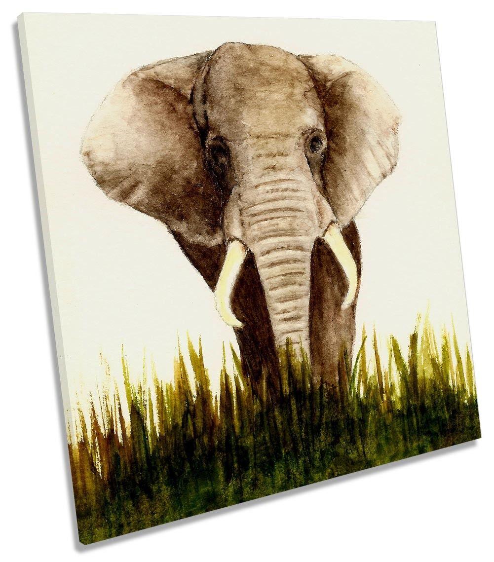 Animale Elefante a muro quadrato opera d'arte d'arte d'arte art print 4ec6c2