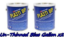 2 Gallons Blue Unthinned Performix Plasti Dip Concentrate Full Strength Free Sh