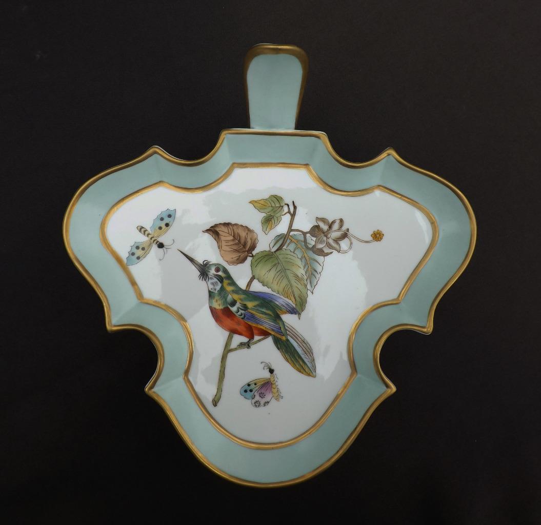 Chelsea House Traité Service de Plat Oiseau Feuille D'or Forme Porcelaine Bon