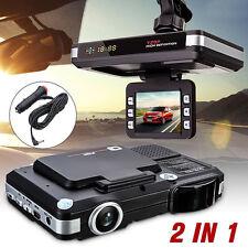 2In1 Car Camera DVR Dash Cam Recorder+Radar Laser Speed Detector Alert G-Sensor