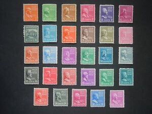#803 - #831 1c thru 50c 1938 Presidential Issues MNH OG F/VF #2