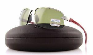 POLARIZED-NEW-Genuine-SERENGETI-DESTARE-Satin-Silver-Red-PhD-555-Sunglasses-7689