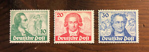 Berlin-9N61-9N63-1949-GOETHE-SET-OG-H-Mint-CV-161-06-Stamps-Germany