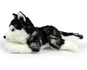 Stofftier-liegender-Husky-Schlittenhund-Hund-Kuscheltier-Plueschtier-L-ca-33cm