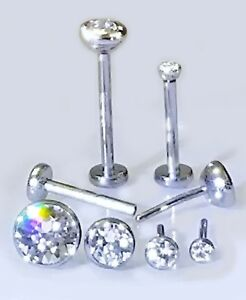 18G Golden Sparkle Safety Pin Cartilage Tragus Barbell Sold Individually