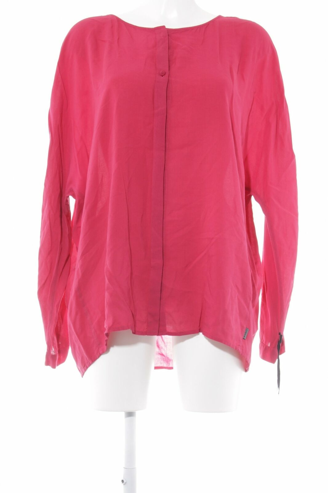 OSKA Langarm-Blause magenta Casual-Look Damen Gr. DE 42 Blouse Long Sleeve Blouse