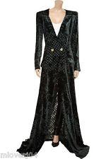 Balmain Velvet Burnout Gown Long Velvet Robe  Dress New BNWT 8 IT 40 FR 36 £2552