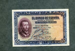BILLETE-25-PESETAS-1926-SERIE-A5133770-EBC