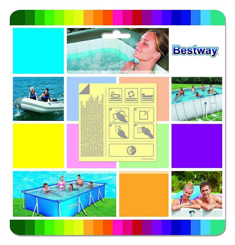 10pc Bestway Adhesive Pool Repair Patch Underwater Kit Lay-Z-Spa Swimming Pool