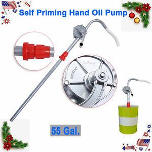 50 Syphon Self Priming Rotary Hand Oil Drum Barrel Pump Fuel Transfer Tool New