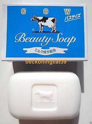 FREE SHIP Cow Brand Beauty Milk Bath Body Soap Soft Type 1 Blue Box 135 g JAPAN