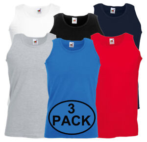 3-Pack-Fruit-of-the-Loom-Para-Hombre-Atletico-para-Llano-Camiseta-sin-mangas-S-M-L-XL-2XL