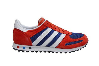 Juniors Adidas LA Trainer J - F34150 - Red Blue | eBay