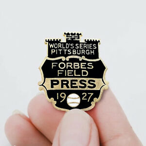 1927-Worlds-Series-Pittsburgh-Forbes-Enamel-Press-Promotional-Pin-Badge-Button