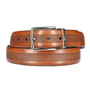Tommy Hilfiger Men/'s Leather Reversible Belt stitching Waistband Strap for Men