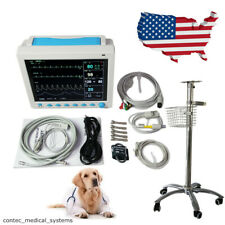 Cms8000 Veterinary Patient Monitor Vital Signs Vet Icu Monitor 121 With Stand