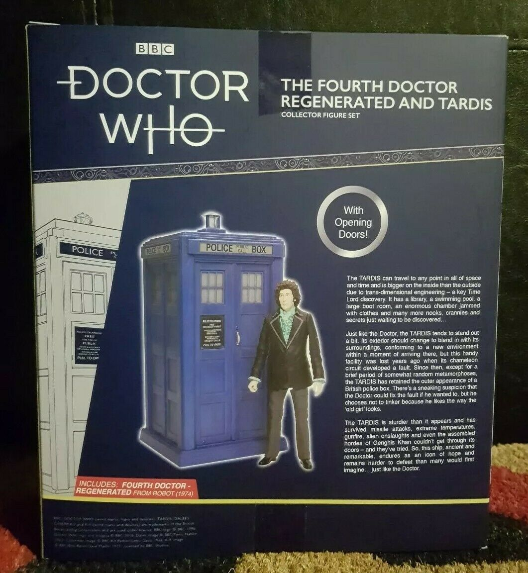 Doctor Who 4th Dr Regenerated Fourth Doctor and and and TARDIS Exclusive NEW B&M STORE 2a3661