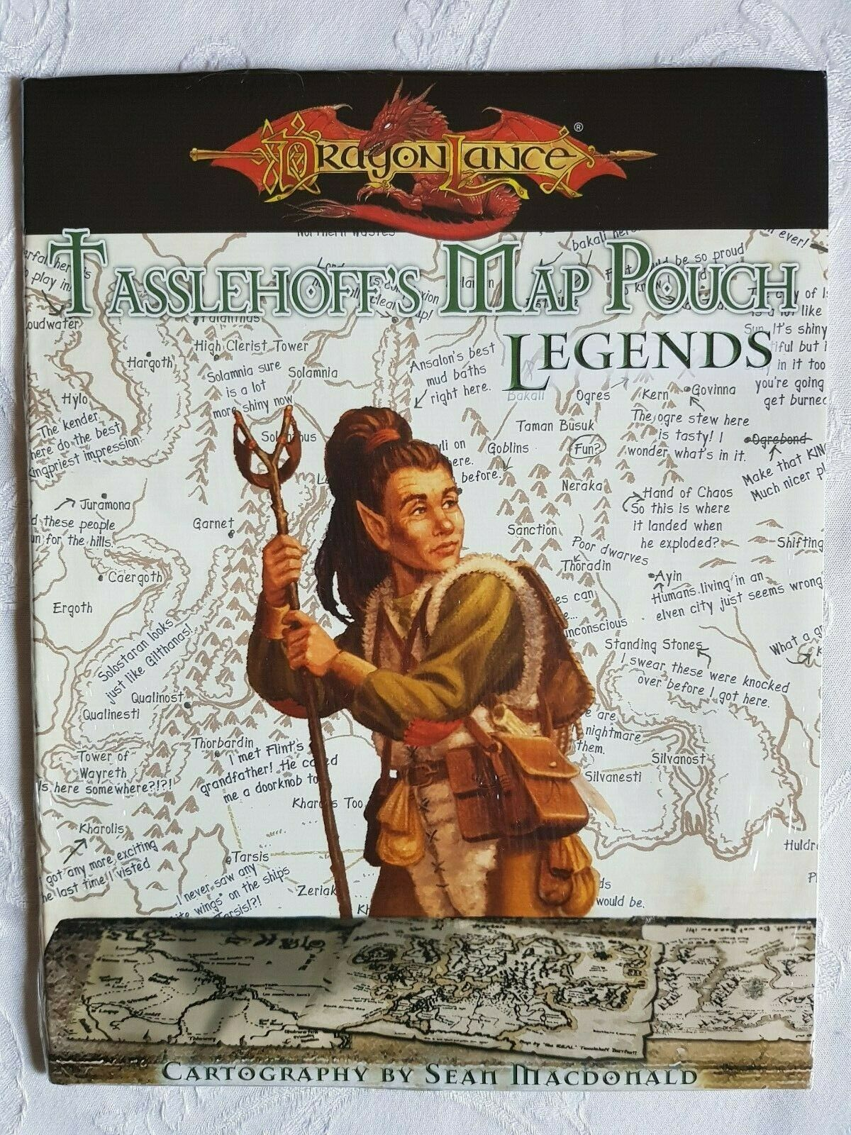 D&D Dungeons and  dragons Dragonlance Tasslehoff's Map Pouch Legends - NEW SW