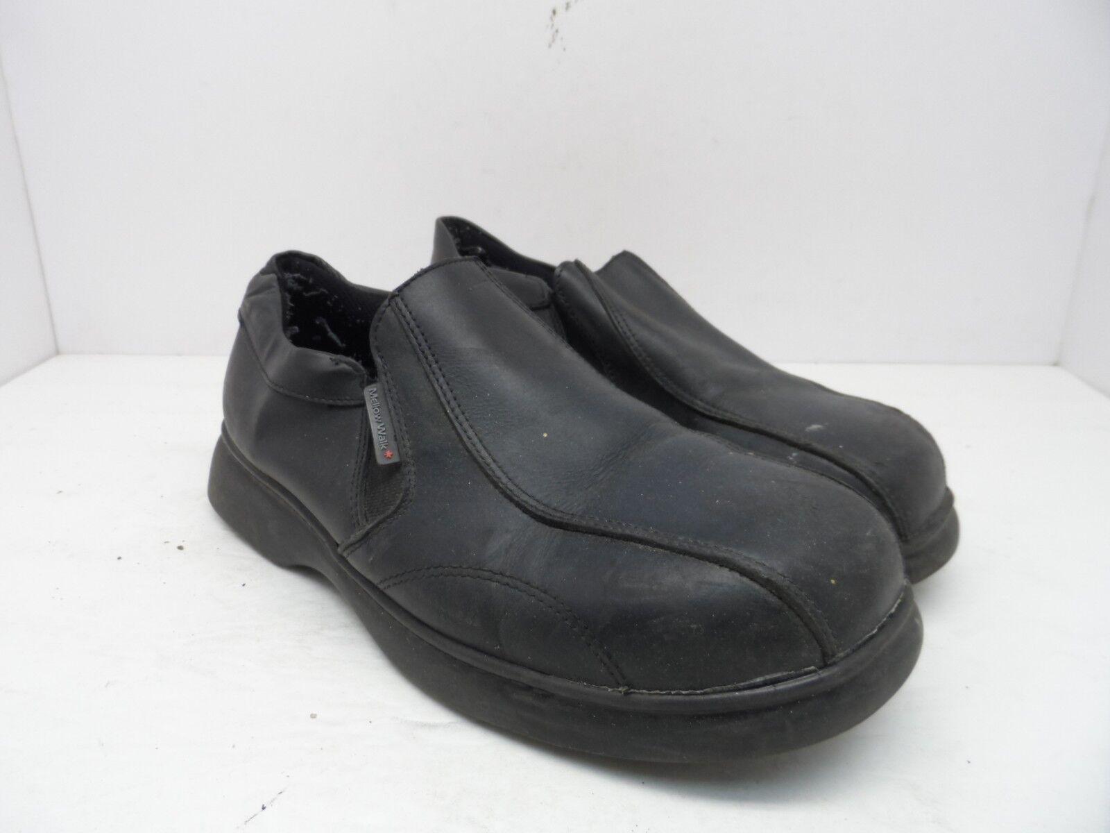Mellow Walk Men's PATRICK Loafer Steel Toe Work Shoe Loafer PATRICK 5142 Black Size 9.5EE 79b1db