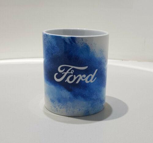 Ford Tasse gobelet Céramique Tasse Splash FORD logo bleu blanc kaffebecher 35030153