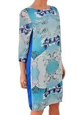 MARKS & SPENCER AUTOGRAPH BLUE FLORAL SHIFT DRESS SIZE UK 12 BNWOT