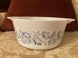 Pyrex Colonial Mist 474-B 1.5L Casserole Bowl Dish Blue White